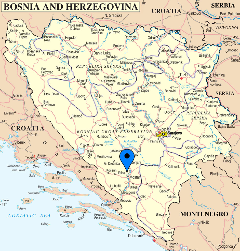 mostar mapa Motel DENY Mostar | Accommodation | Old town near Old bridge  mostar mapa